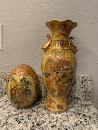 Vintage Royal Satsuma Vase and Egg
