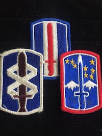 American 18th Medical Brigade, 193rd and 172nd Infantry Badges Toronto, M4V 2C1
