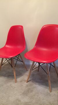 two red leather padded bar stools Silver Spring, 20910