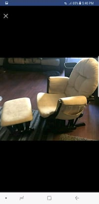 two brown wooden framed white padded armchairs Suisun City