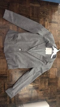 Gray button-up coat