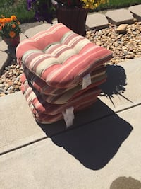 4- patio cushions (2) used $8.00 each or two new ones $10.00 each. MPU in Erie  Erie, 80516