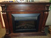 Brown wooden framed electric fireplace Alexandria, 22307