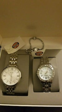 Fossil watch set with bracelet Centreville