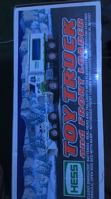 Hess Toy truck and front loader box