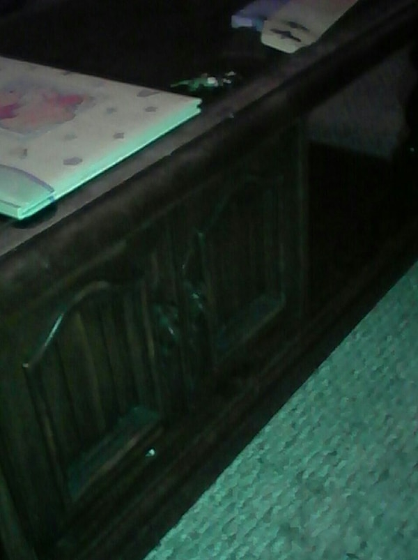wood coffee table with cuboard