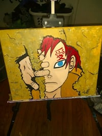 Anime painting hand painted by local artist Louisville