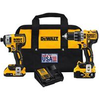 DEWALT 20-Volt MAX XR Lithium-Ion Cordless Brushless Drill/Impact Combo Kit (2-Tool) with (1) Battery 2Ah and (1) Battery 4Ah brand new Rockville, 20850