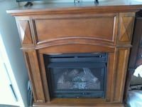 brown wooden framed gas fireplace Maple, 27956