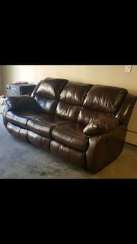 Brown Bonded leather couch Marietta