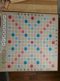 Complete Scrabble tiles, racks and dictionary 1956 km