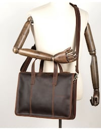 MANTIME VINTAGE SHOULDER MESSENGER LEATHER HANDBAG IN BROWN