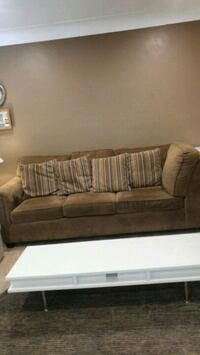 brown fabric sofa Windsor