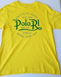 Ralph Lauren Polo Tee Yellow Size L 14-16 Used Once
