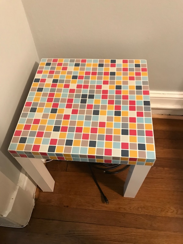 IKEA checkered table