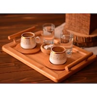 brown and white ceramic dinnerware set London