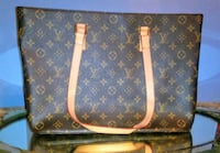 brown and black Louis Vuitton leather tote bag Roswell, 30076