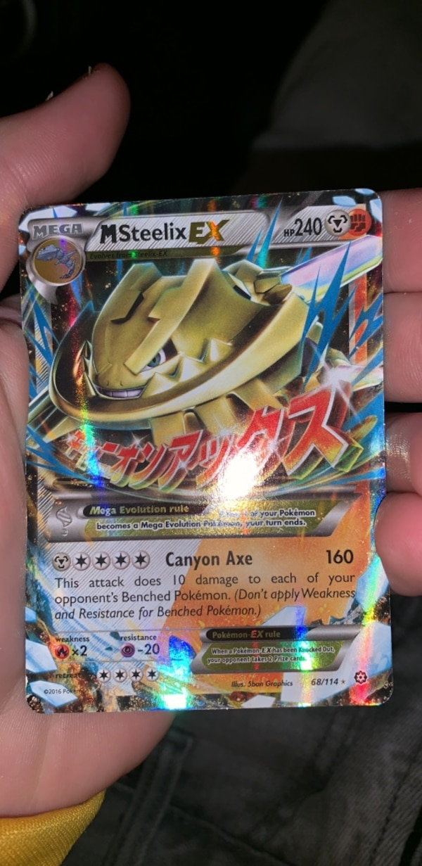 Used Mega Steelix Ex For Sale In North Chesterfield Letgo