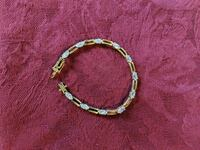 14kt gold plated bracelet with cubic zirconia 237 mi