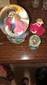 Two Sleeping Beauty Globes with figure Knoxville, 37921