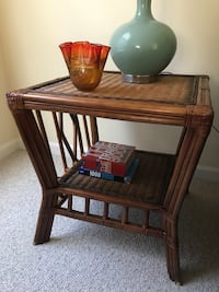 Pier 1 Imports Rattan end table Germantown, 20874