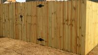 Wood fence storage sheds lawn care