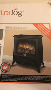 black wooden framed electric fireplace Fairfax, 22030