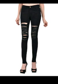 Black skinny ripped jeans Thane, 400606