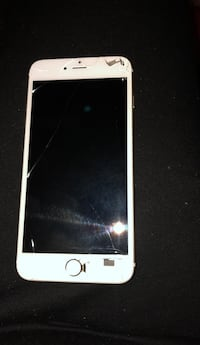 iPhone 6 Plus gold locked with virgin cracked  Edmonton, T5E 5G1