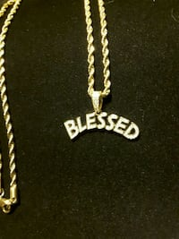 BLESSED Iced-Out Shadow Pendent Pick Chain 25$ Ladson, 29456