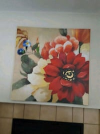 red and white flowers painting Las Vegas, 89107