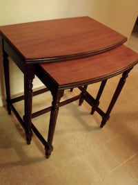 Space Saver, 2 Vintage Nesting Tables Surrey