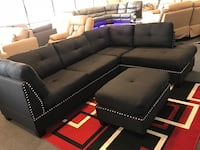 BRAND NEW SECTIONAL WITH OTTOMAN BLACK FABRIC  Irving, 75061
