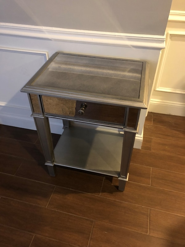 Pier 1 silver mirrored nightstand