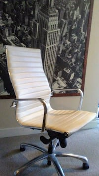 White Leather office chair (flex furniture)