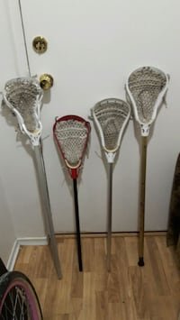 4 used lacrosse stick