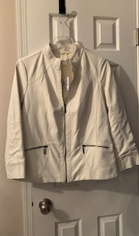 Faux leather white jacket, XL, new.Perfect condition, Non smoking home Westminster, 21157