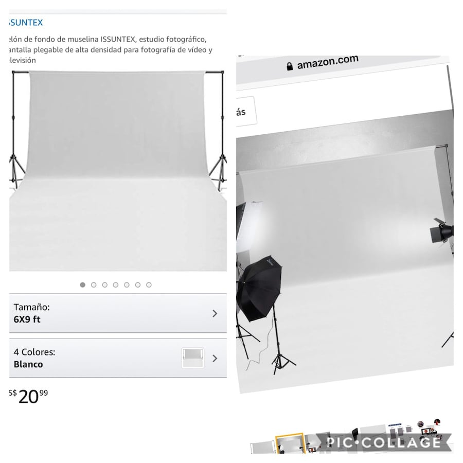 Cloth Background white new 6ft x 9ft ONLY BACKGROUND
