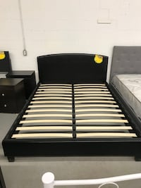 Brand new queen black faux leather platform bed frame warehouse sale 多伦多, M1P 5B7