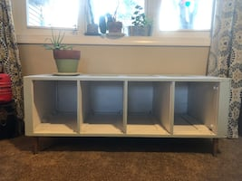 Super sturdy entry bench with cubbies
