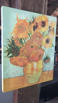 Large Van Gogh  Sunflower PRINT on canvas Athens, 12015