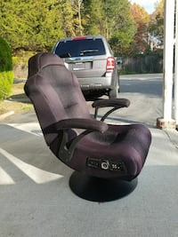 black and purple gaming chair