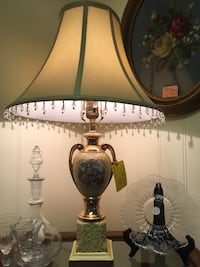 white and green table lamp Placerville, 95667