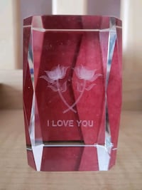 """i love you"" crystal lamp Vancouver, V5N 5Y3"