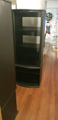 2 black display cabinets 7/10 condition  Brampton