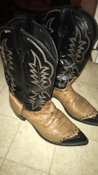 Eel and Ostrich Skin Boots Modesto, 95350