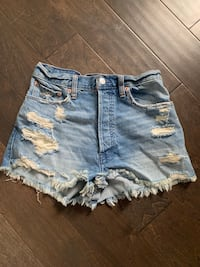 Abercrombie & Fitch high waisted jean shorts Waterloo, N2T 1Z9