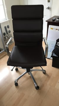 Dark brown leather office rolling armchair Los Angeles, 90024