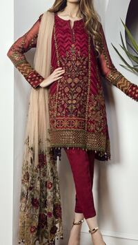 women's red and brown traditional dress Toronto, M1L 0H4
