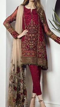 women's red and brown traditional dress Toronto, M1L 0B1